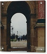 Rainy Day In Paris Acrylic Print by Paula Rountree Bischoff