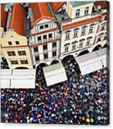 Rainy Day In Prague-1 Acrylic Print by Diane Macdonald