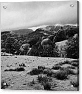Rainy Day In The Lake District Near Loughrigg Cumbria England Uk Acrylic Print