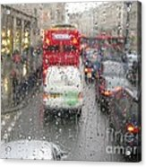 Rainy Day London Traffic Acrylic Print