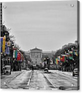Rainy Day On The Parkway Acrylic Print by Bill Cannon