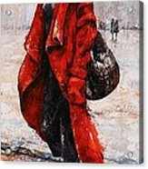 Rainy Day - Red And Black #2 Acrylic Print by Emerico Imre Toth