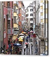 Rainy Day Shopping Acrylic Print