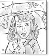 Rainy Day Smile Acrylic Print