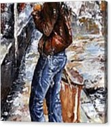 Rainy Day - Woman Of New York 15 Acrylic Print