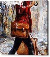 Rainy Day - Woman Of New York 17 Acrylic Print