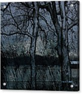 Rainy Days And Mondays- Feature-barns Big And Small-visions Of The Night-photography And Textures Acrylic Print