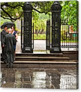 Rainy Destination Wedding In Jackson Square New Orleans Acrylic Print