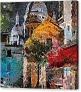 Rainy Evening In Montmartre Acrylic Print