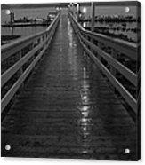 Rainy Evening On The Dock Acrylic Print