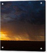 Rainy Sunset  Acrylic Print by Brandon  Ivey