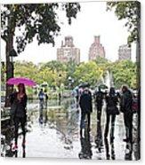Rainy Washington Park  Acrylic Print