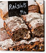Raisin Bread Acrylic Print