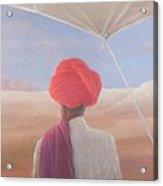 Rajasthan Farmer, 2012 Acrylic On Canvas Acrylic Print