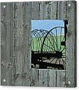 Rake And Barn Acrylic Print by Doug Davidson