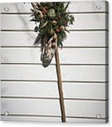 Rake And Wreath Acrylic Print