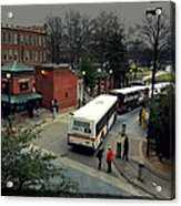 Raleigh Bus Terminal - Evening Acrylic Print by Paulette B Wright