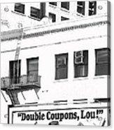 Raleigh Cigarettes Billboard Ad Portland Oregon 1979 Acrylic Print