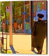 Ramacieri Soligo Building Supplies Rue Van Horne Outremont Montreal Street Scene Art Carole Spandau Acrylic Print