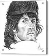 Rambo-sylvester-stallone Acrylic Print by Murphy Elliott