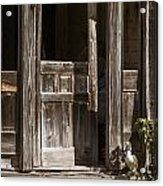 Ranch Cabin Old Door In Antique Color 3007.02 Acrylic Print