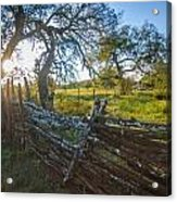 Ranch Fence Acrylic Print