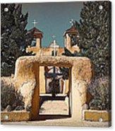 Ranchos Gate In Gum Bichromate Acrylic Print