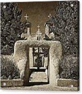Ranchos Gate On Rice Paper Acrylic Print