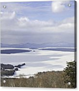 Rangeley Maine Winter Landscape Acrylic Print by Keith Webber Jr