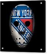 Rangers Goalie Mask Acrylic Print
