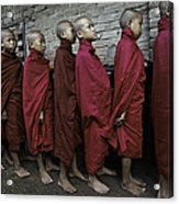 Rangoon Monks 1 Acrylic Print