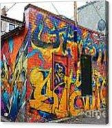 Rant Alley Acrylic Print