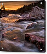 Rapids At Dawn Acrylic Print