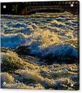 Rapids At Dusk Acrylic Print
