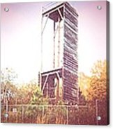 Rappelling Tower Acrylic Print