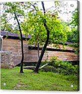 Rapps Covered Bridge Over French Creek Acrylic Print