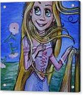 Rapunzel In A Botticelli Style Acrylic Print