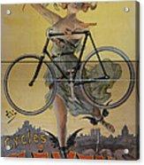 Rare Vintage Paris Cycle Poster Acrylic Print