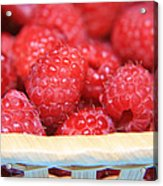 Raspberries In A Basket Acrylic Print