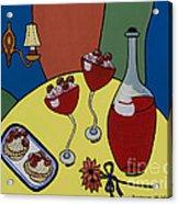 Raspberry Wine Acrylic Print