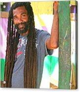 Rasta Man Acrylic Print