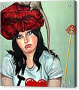 Rat Hat Acrylic Print by Shelley Laffal