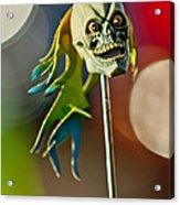 Rat Rod Antenna Skull  Acrylic Print