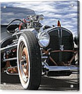 Rat Rod On Route 66 2 Panoramic Acrylic Print