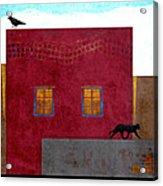 Raven And Cat Acrylic Print