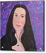 Raven Hair Acrylic Print