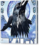 Raven Illustration Acrylic Print by Sassan Filsoof