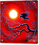 Raven In Ruby Red Acrylic Print