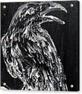 Raven On The Branch - Oil Painting Acrylic Print