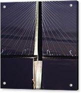 Ravenel Bridge Night View Acrylic Print